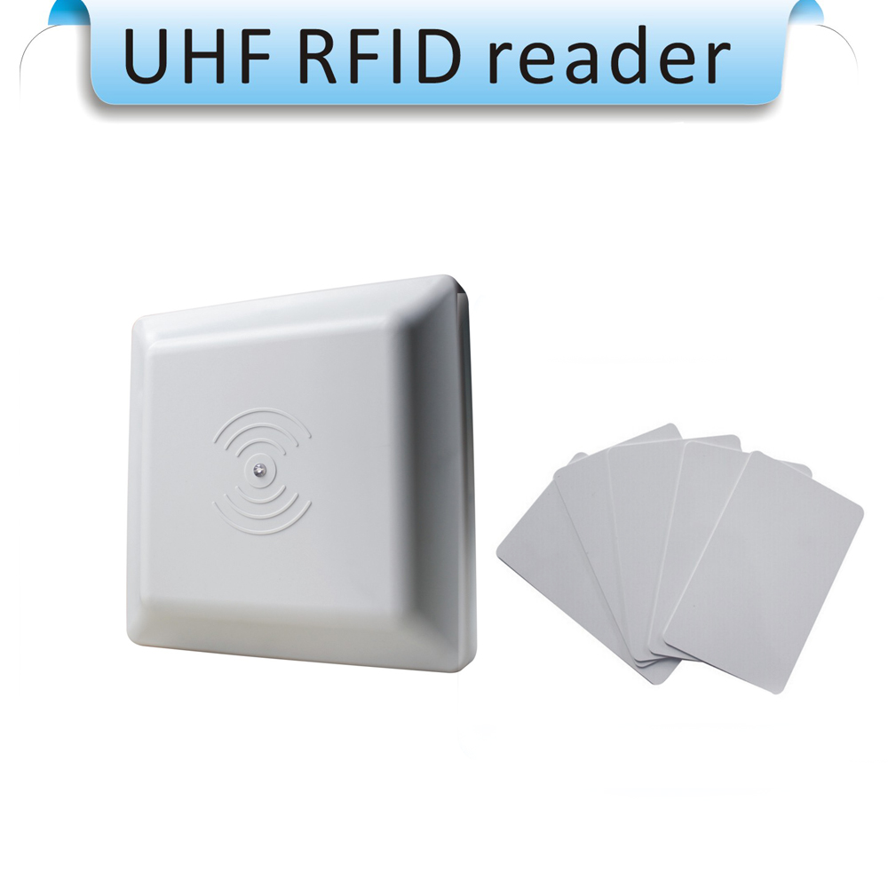 Long Range Integrated Uhf Passive Rfid Reader Rs232/ Wiegand 26 Access Controller Iso18000-6c 12dbi Antenna Rfid Reader Wiegand Control Card Readers