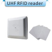 UHF RFID lecteur de carte à longue portée, 8dbi Antenne RS232/RS485/Wiegand 26 Lecteur 1-5 M Intégrative UHF Lecteur RFID + 20 pcs cartes
