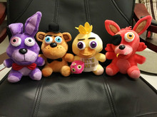 "FNAF in stock five nights at freddy baby gift plush doll 6.5"" High 4 pcs in 1 order with fast free shipping"