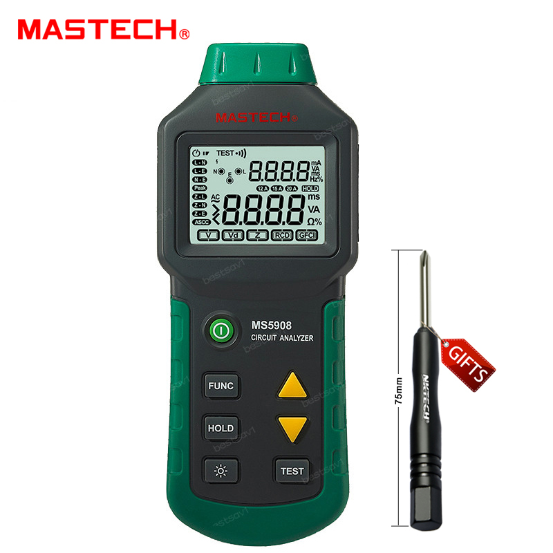 Mastech MS5908 RMS Circuit Analyzer Tester Compared w/ IDEAL Sure Test Socket Tester 61-164CN 110V or 220V Mastech