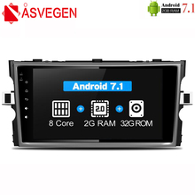 Asvegen Octa 8 Core Car Radio Dvd For Toyota Verso E'Z Car PC head Unit GPS Navigation 2 din Car Stereo Multimedia Player