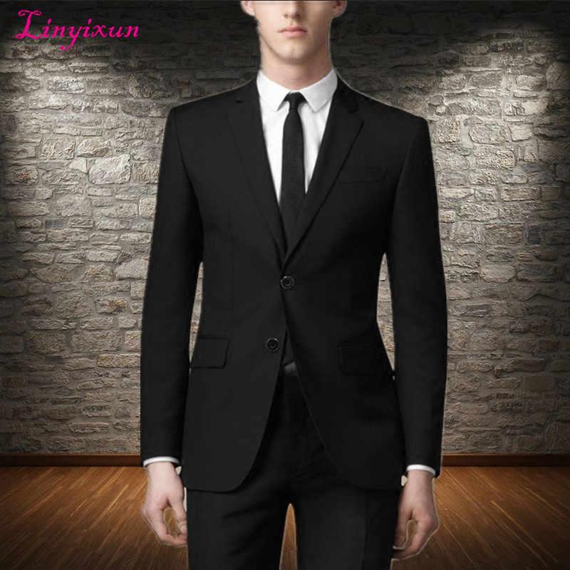 Linyixun Jacket Vest Pants Suits Men Casual Business Mens 3 Piece Suit Plus Size Slim Fit Royal Blue Wedding Groom Men Suit