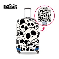 Dust Case Protective Covers for Women Trendy Suitcase Protector Cover Pretty 3D Print White Skull Picture Travel Accessories