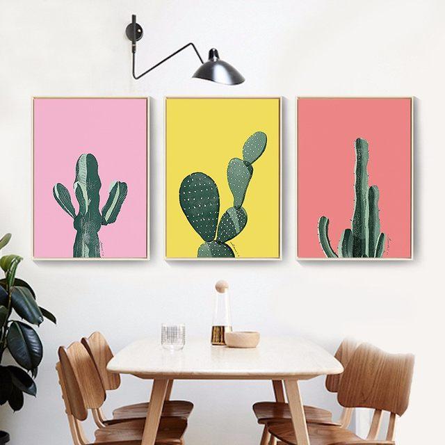 Online Shop Fresh Keel Cactus Art Prints Poster Nordic Green Plant ...