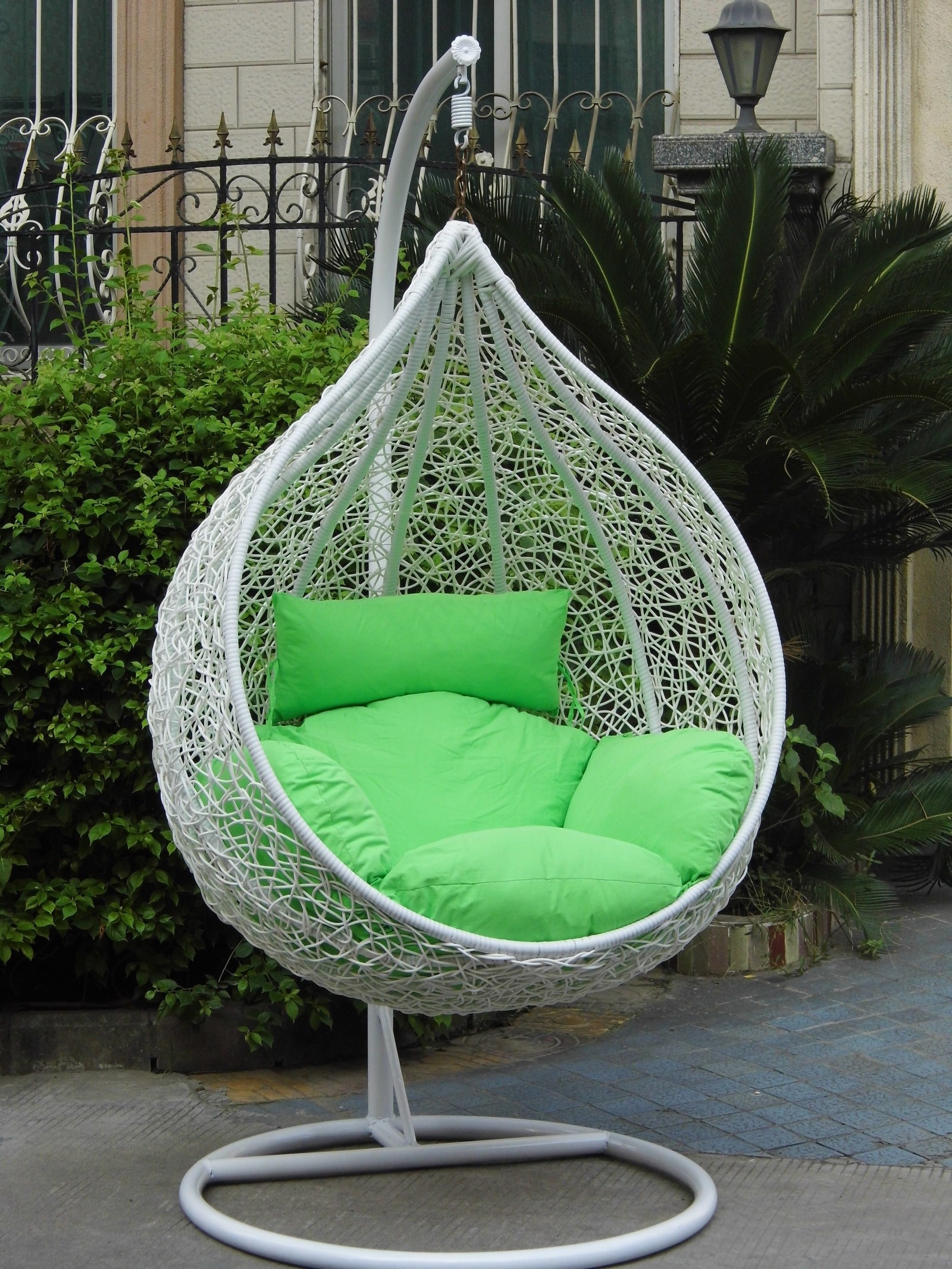 Outdoor indoor rattan hanging basket hanging chair bird ...