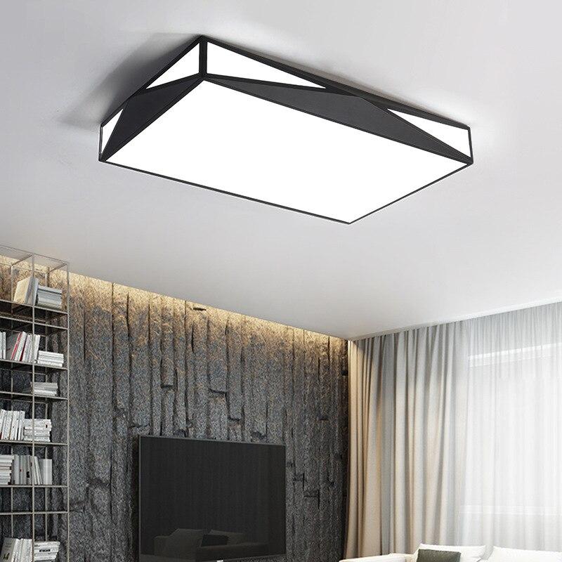 White Black LED Ceiling Lights for the Living Room Bedroom Indoor Lighting Fixture Modern Lamp Simple Minimalist Home Decoration цена