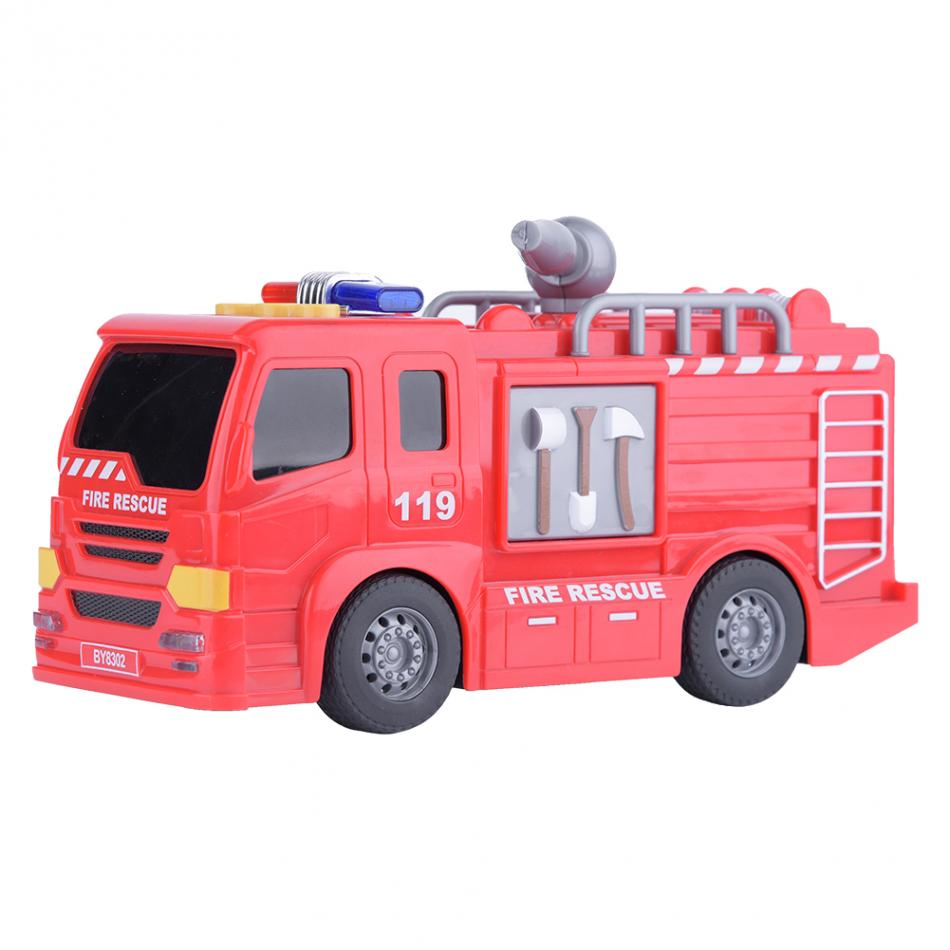 Creative Fire Rescue Truck Mini Car Model Inductive Children Kids Educational Toy Gifts for Boys Plastic Toy Car For Children