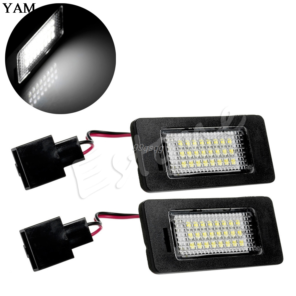1Pair 24LED Error Free License Plate Light For Audi A4 B8 A5 S5 TT Q5 Passat R36 Car Light Source Drop shipping 2pcs 12v 31mm 36mm 39mm 41mm canbus led auto festoon light error free interior doom lamp car styling for volvo bmw audi benz