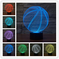 3D Basketball Shape LED Art Sculpture Desk Lamp 3D Visualization Home Docoration Touch switch night light Christmas gift