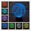 3D Forma de Basquete LEVOU Escultura de Arte Lâmpada de Mesa interruptor de Toque Visualização 3D Casa Docoration night light presente de Natal