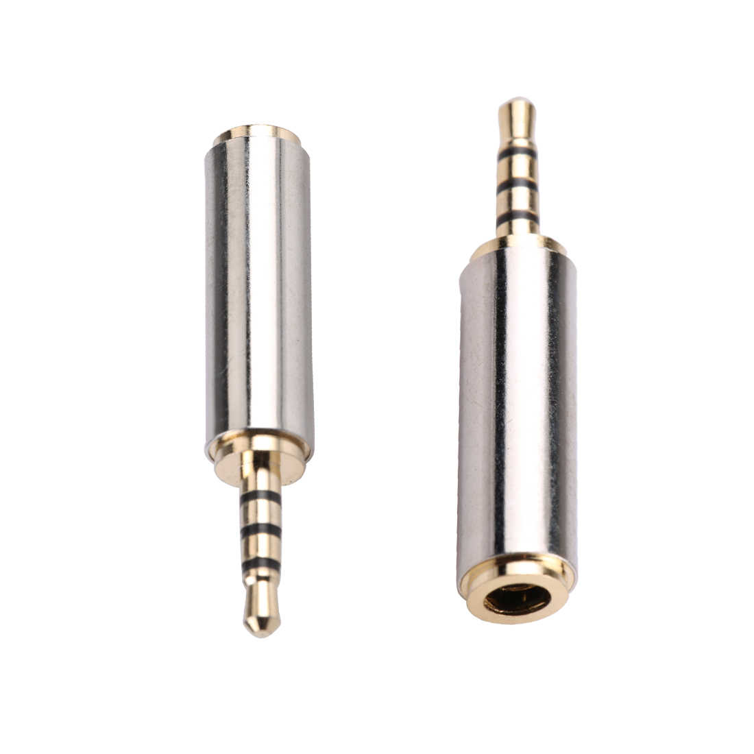 HOT 1pc Gold 2.5 mm Male to 3.5 mm Female audio Stereo Adapter Plug Converter Connector Headphone jack