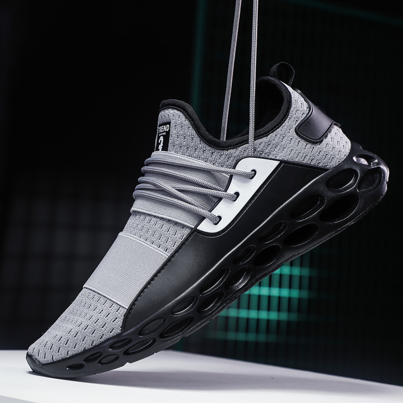 GNOME Fashion Black Red Gray Men Casual Shoes Lightweight Male Footwear Brand Men Shoes Breathable Simple Sneakers Shoes For Men 4