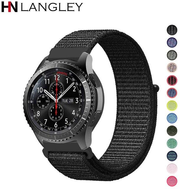 22 мм 20 мм нейлоновая петля ремешок для samsung Galaxy часы 46 мм 42 мм ремешок для samsung Шестерни S3 классический Frontier Шестерни S2 Huami Amazfit