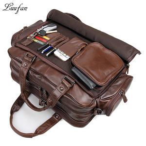 b39a9047699 Luufan Men s genuine leather briefcase laptop Cow leather