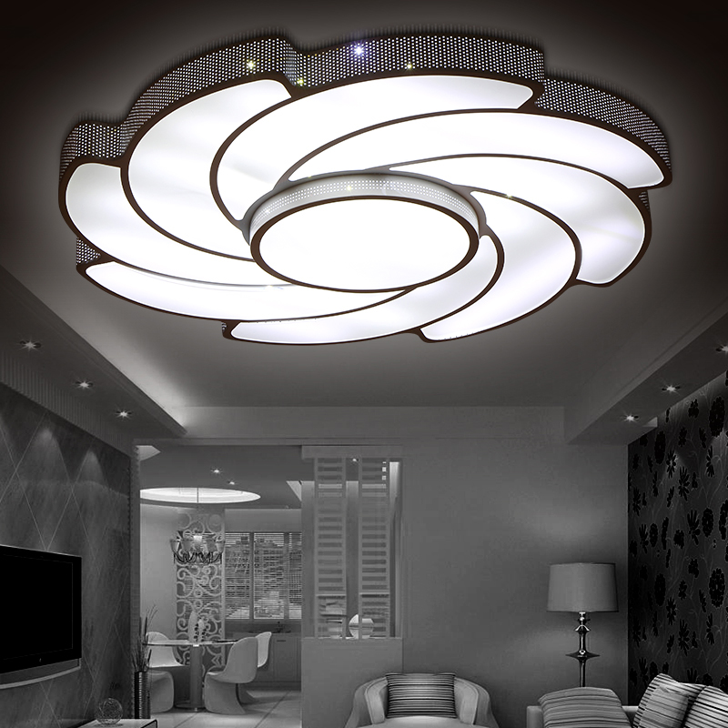 modern led living room ceiling lights design acrylic lamp bedroom kitchen light eclairage plafonnier luminarias lighting fit цена