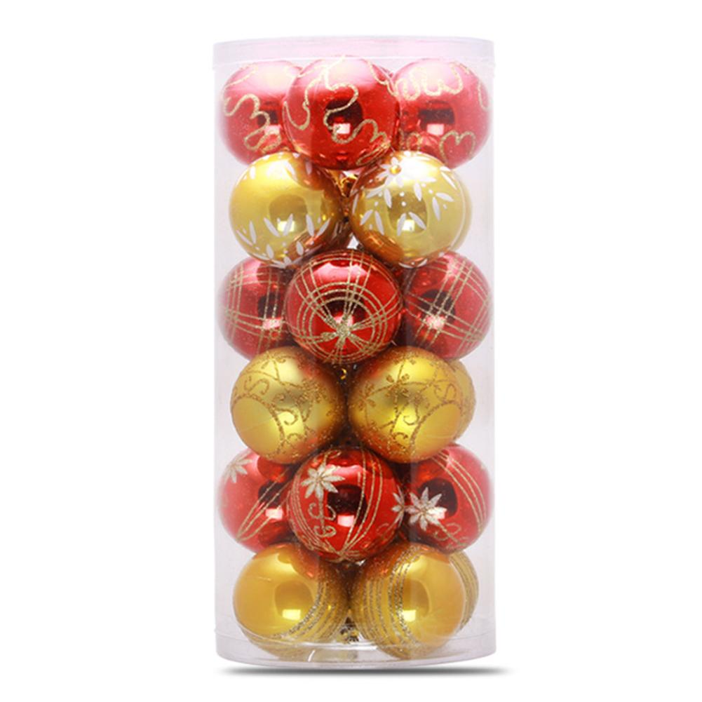 24pcs Multi color Christmas Balls Red Christmas Tree ...