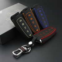 Car Covers Styling Leather Key Case For Car For Ford Edge Explorer Lincoln MKT MKX Automotive Interior cajas dominantes del coch