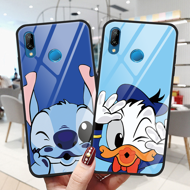 Cartoon <font><b>Glass</b></font> <font><b>Case</b></font> For <font><b>Huawei</b></font> P9 <font><b>P10</b></font> Plus P20 P30 P Smart Mate 9 10 20 20X Lite Pro Nova 3 3i 4 Y9 2018 2019 TPU Back Cover Capa image