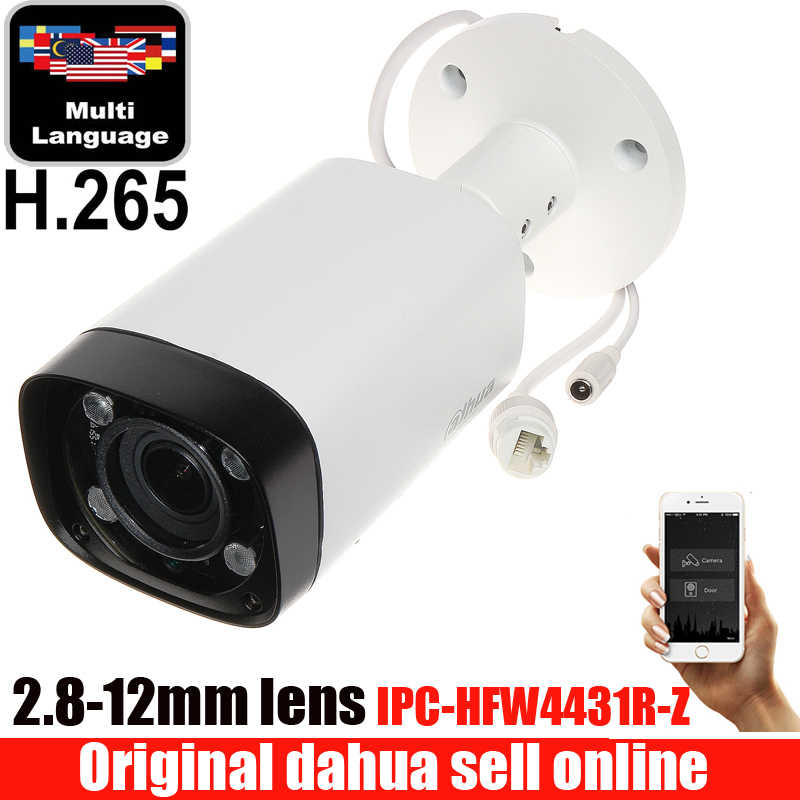 Dahua Poe varifocale gemotoriseerde lens 2.8mm ~ 12mm camera IPC-HFW4431R-Z H.265 netwerk CCTV camera 4MP IR 80 M ip camera HFW4431R-Z