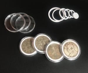 Image 4 - 20 sztuk/zestaw pamiątkowa moneta akrylowe okrągłe pudełka kolekcja monet pole ochrony 50 zestaw