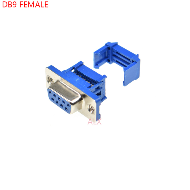 5PCS DIDC9 DB9 feMALE serial port CONNECTOR IDC crimp Type D-Sub RS232 COM CONNECTORS 9pin socket 9p Adapter FOR ribbon cable