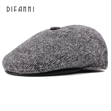 Difanni 2017 New Winter Beret Hats for Men Retro Cap Dad Hat British Retro Men Flat Cap