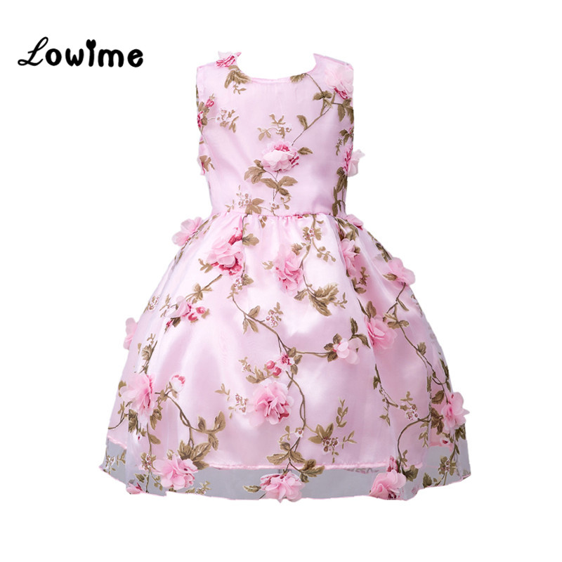 Beautiful   Flower     Girl     Dress   Pink Communion   Dresses   Kids   Flower     Girl     Dresses   2018 Cheap Graduation Gowns Children Comunion