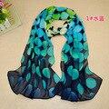 Женщины в шарф леопардовый шарф принт длинная шаль мыс шелк шифон поводок глушитель дизайн пашмина горох шарфы