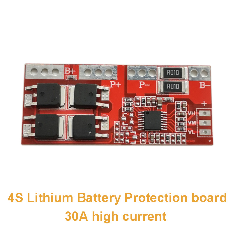 5pcs/lot 4S Lithium Battery Protection Board 30A High Current