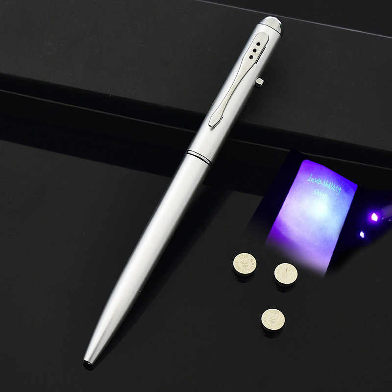 Светодиодный текстовый маркер волшебство секрет невидимые чернила Шариковая ручка с УФ свет Офис Школьные принадлежности