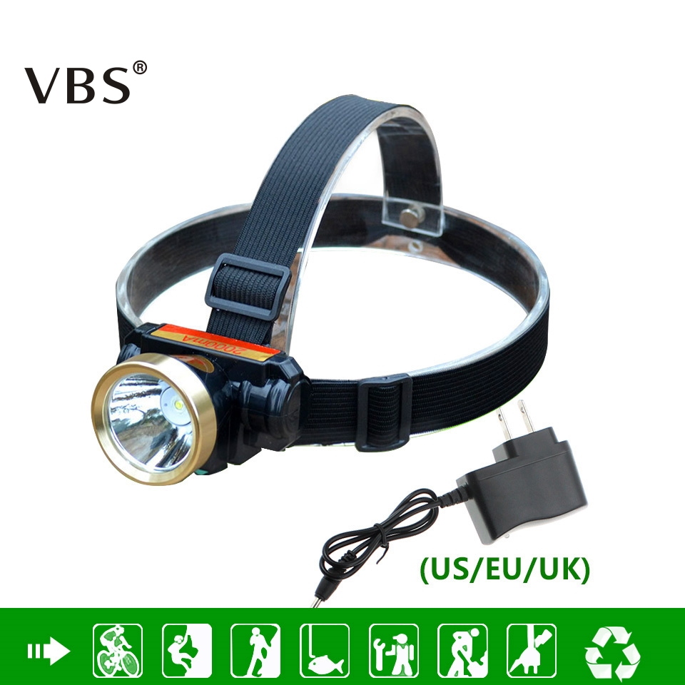 LED Headlamp 5w Waterproof High Bright Built-in Lithium Battery Rechargeable Headlight + Charger 2 Modes LED Head Lamp Torch