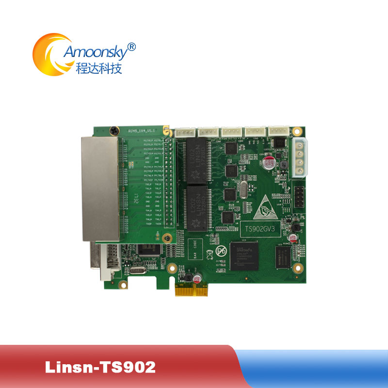 2018 new linsn ts902 ts902d 4 net work port sending card support 4k video input max support 2.6 million pixels(China)