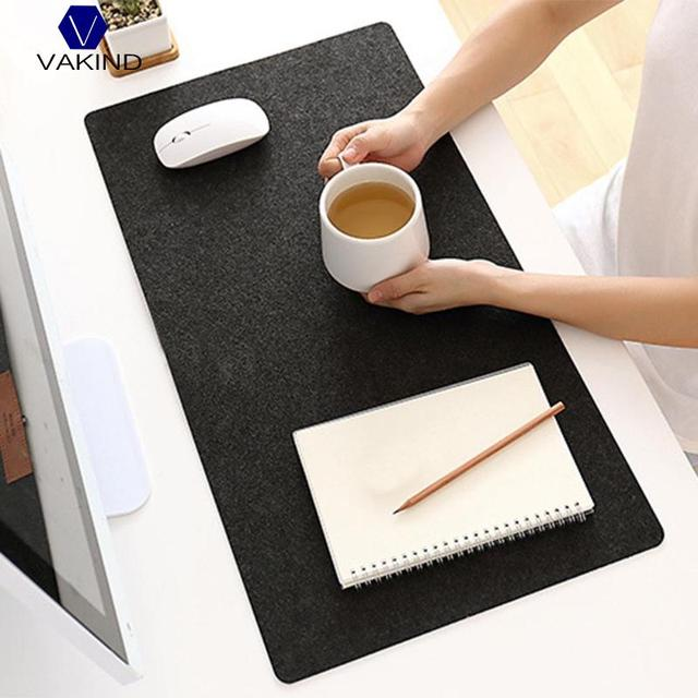 Us 1 96 23 Off Vakin 1pcs Modern Felt Cloth Mouse Pad Keyboard Cushion Office Home Desk Mat Supplies 630x325x2mm Black Dark Grey In Mouse Pads From