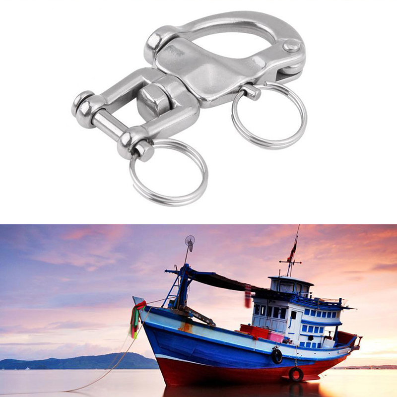 Image 5 - 2 3/4 Metal Jaw Swivel Snap Shackle Quick Release Pin Tool For Sailboat Halyard-in Marine Hardware from Automobiles & Motorcycles