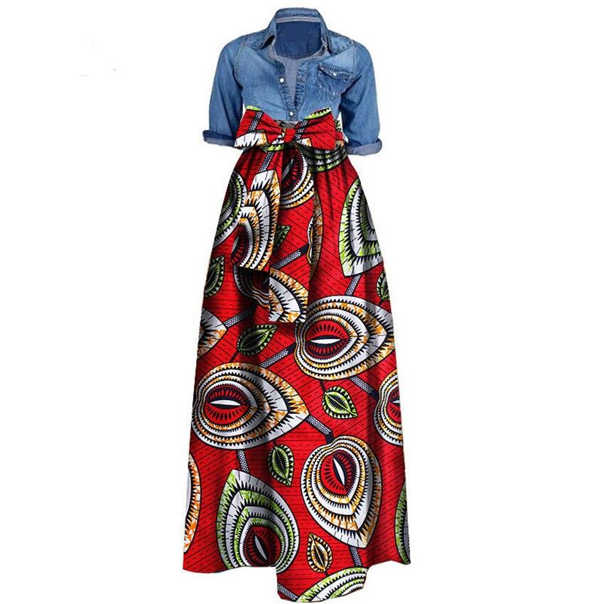 Robes imprimées africaines pour femmes 2019 nouvelles jupes en tissu de cire Traditioanal Dashiki Bazin grande taille vêtements africains