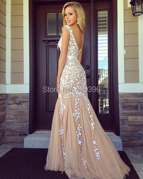 White Champagne Dresses