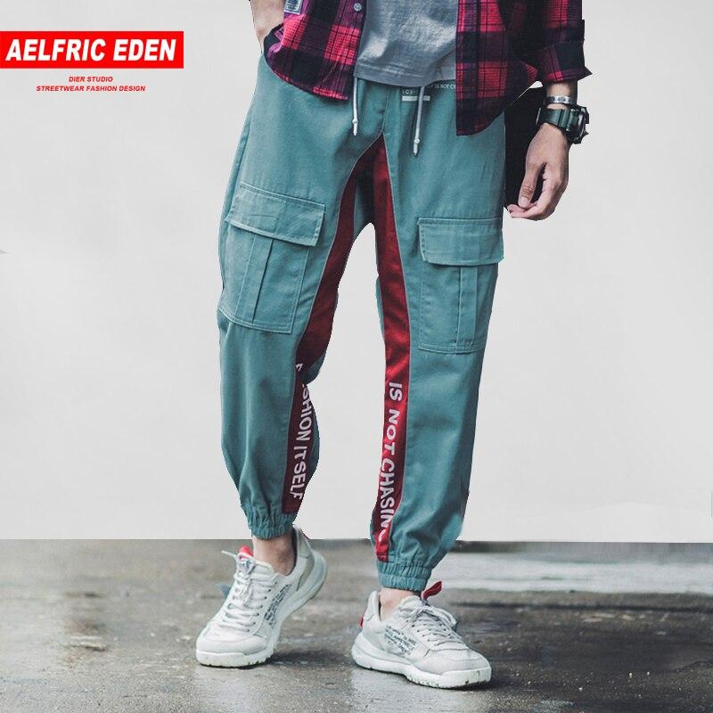 Aelfric Eden Side Striped Letter Print Men Cargo Pants 2018 New Design Male  Joggers Casual Streetwear Hip Hop Sweatpants B035 9cdf55cced9c