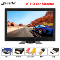 Jansite 10 HD Car Monitor IPS Display Cameras can be computer monitor Reverse Camera Parking System With Waterproof rear camera