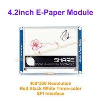 4.2インチe-紙400 × 300 e-インクドライブデモボードディスプレイモジュール表示色:赤&黒&白