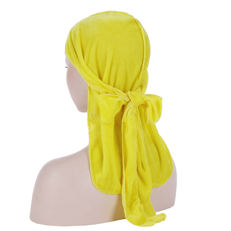 New Luxury Velvet Turban Long Head Scarf Headwrap Women Muslim Hijab Hair Accessories Head Turbans for Women Hijab Scarf