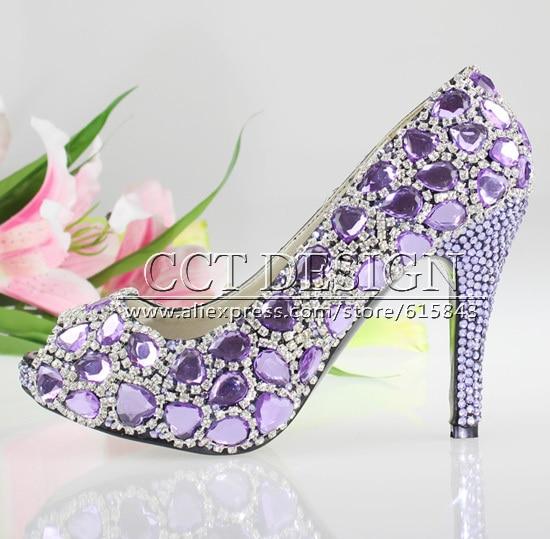 Purple Wedding Low Heel Shoes Promotion-Shop for Promotional ...