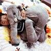 Gray 65cm Height Large Plush Elephant Doll Toy Kids Sleeping Back Cushion Cute Stuffed Elephant Baby
