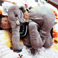 Gray 65cm Height Large Plush Elephant Doll Toy Kids Sleeping Back Cushion Cute Stuffed Elephant Baby