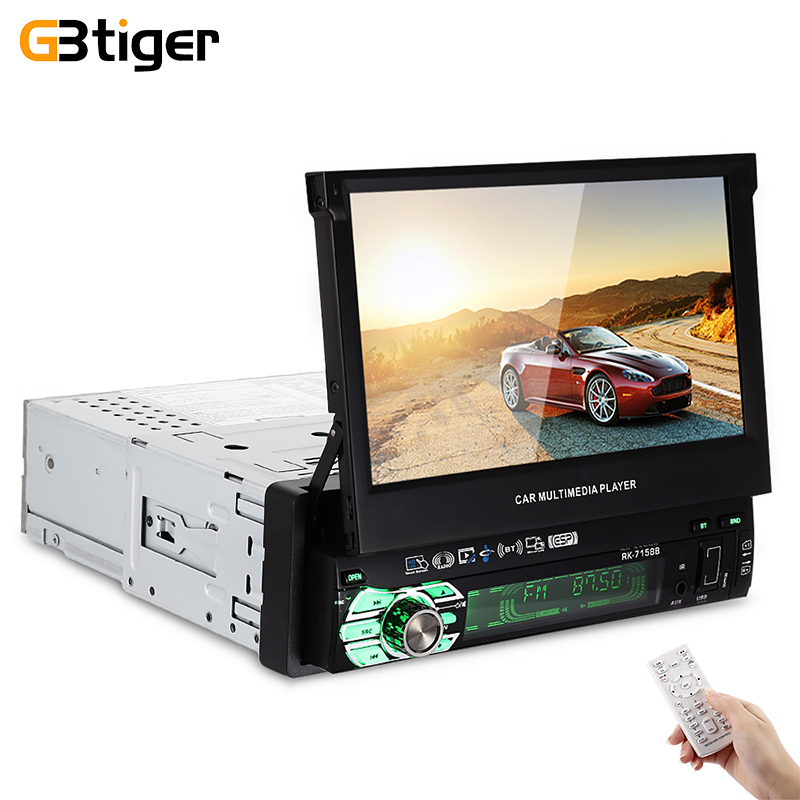 Universal 7158B 7.0 inch Car MP5 Multimedia Player Wince TFT LCD HD Touch Screen Mirror Link Bluetooth FM Radio USB TF AUX-IN edaohang e53 5 touch screen lcd wince 6 0 gps navigator w fm 8gb black