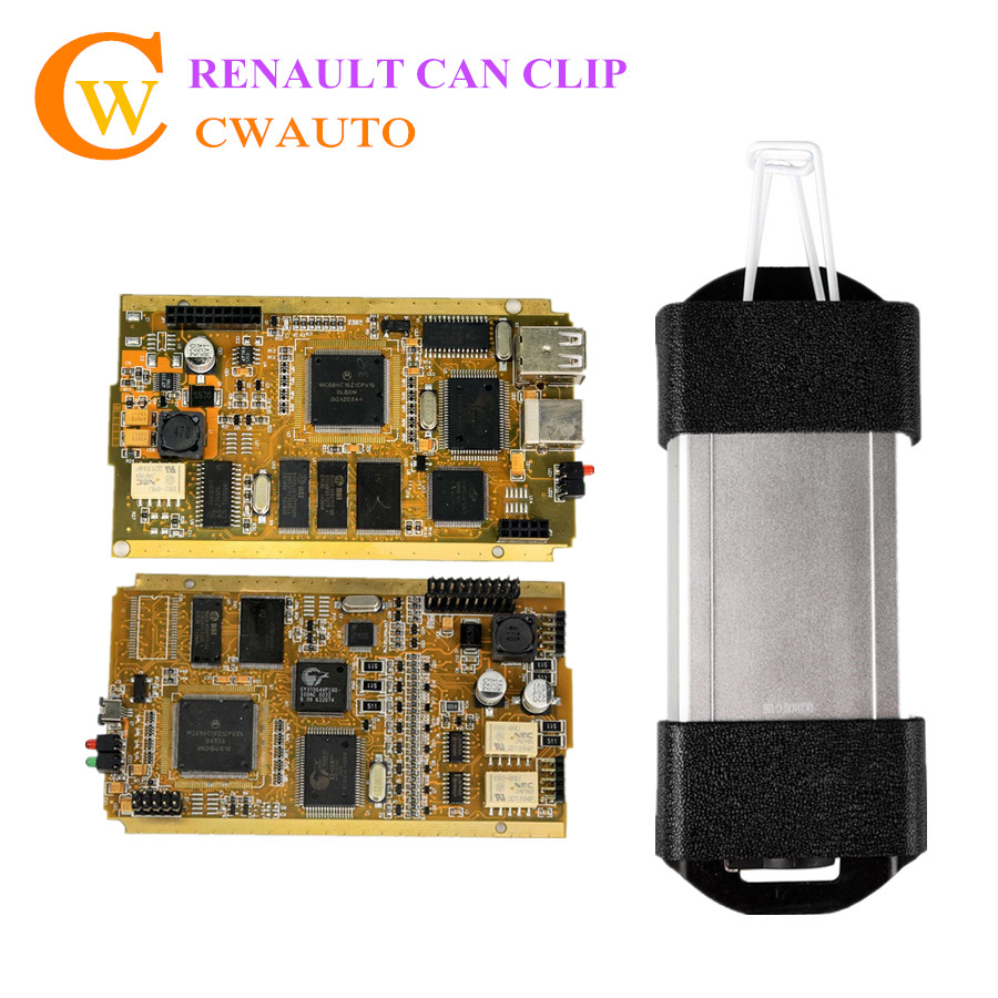 Newest V169 CAN Clip for Renault Diagnostic Interface with Full Chip AN2135SC AN2136SC Multi Languages DHL