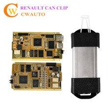 Neueste V169 KANN für Renault Diagnoseschnittstelle mit Voller Chip AN2135SC AN2136SC Multi-sprachen DHL Schnelles Verschiffen