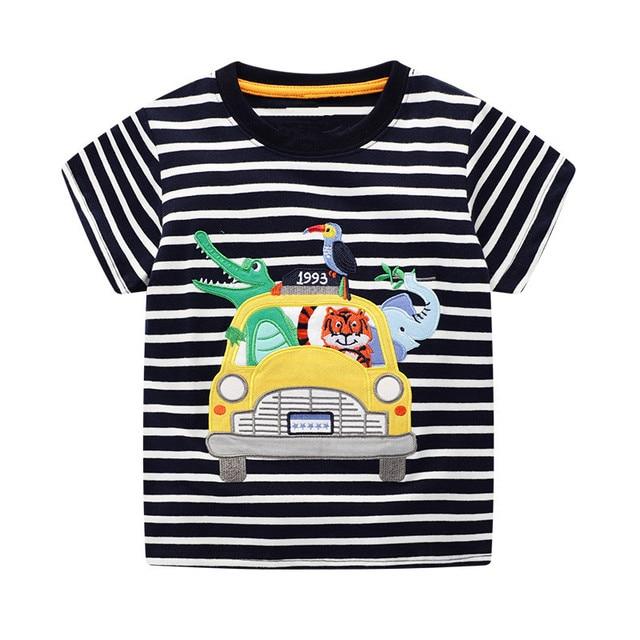 VIDMID 2-7Years Children baby boys Kids Boys T-Shirt Cotton Cartoon animals Baby Boys Short Sleeve t-Shirts Summer clothing W02 5