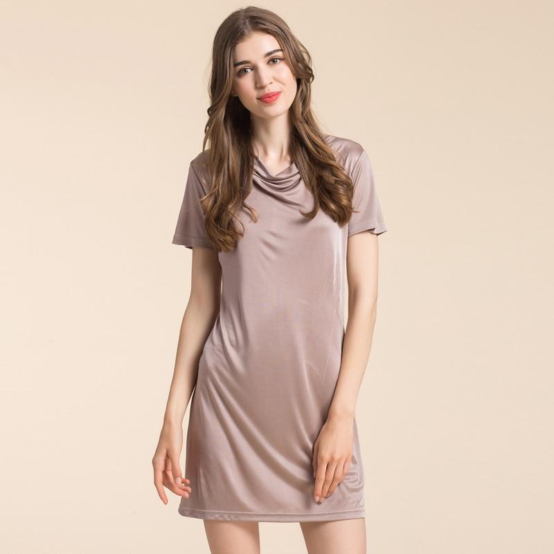 100% Silk Knitted Suspenders Dress Silk Nightdress Female Clothing Home Furnishing Backing Petticoat Womens Robes(China)