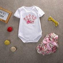 Baby Girls Bodysuit Jumpsuit pp Children Newborn Kids Clothes Sets Pants 2pcs Outfits
