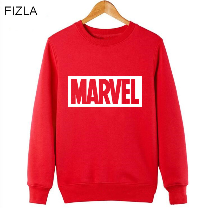 FIZLA New Super Hero Marvel Brand Print Sweatshirts Fashion Men Women Pullover Hot sale in autumn and winter Mens Tracksuits